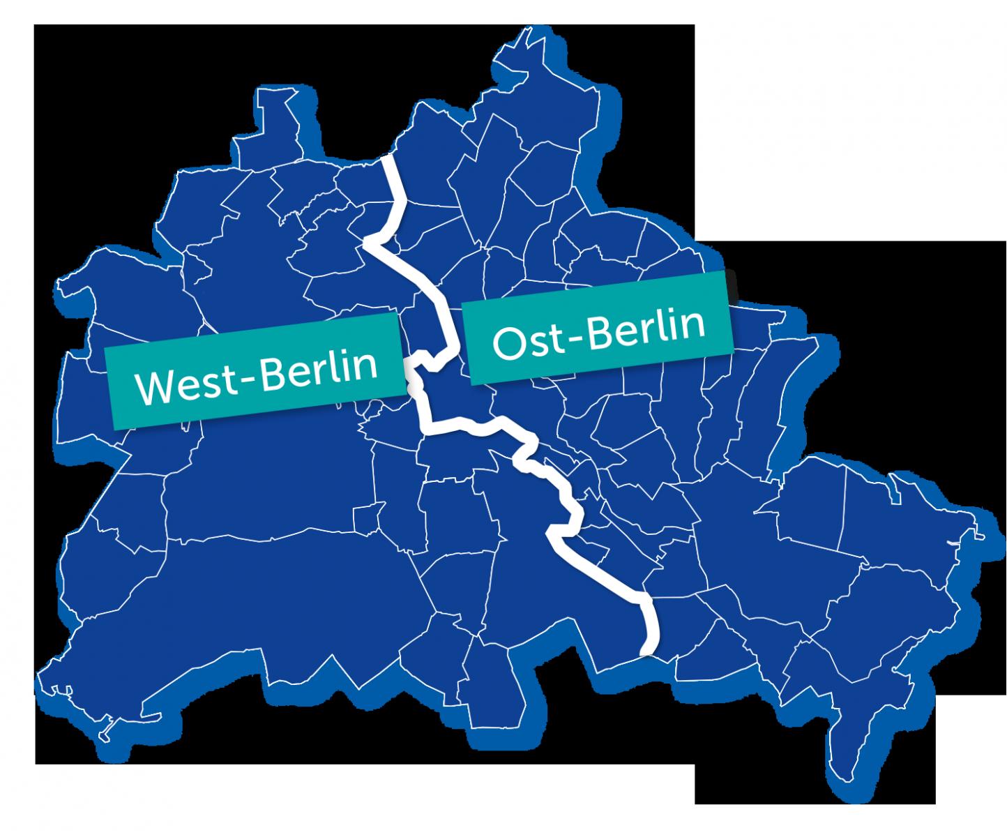 Zwei teile ost berlin und west berlin alle waren traurig